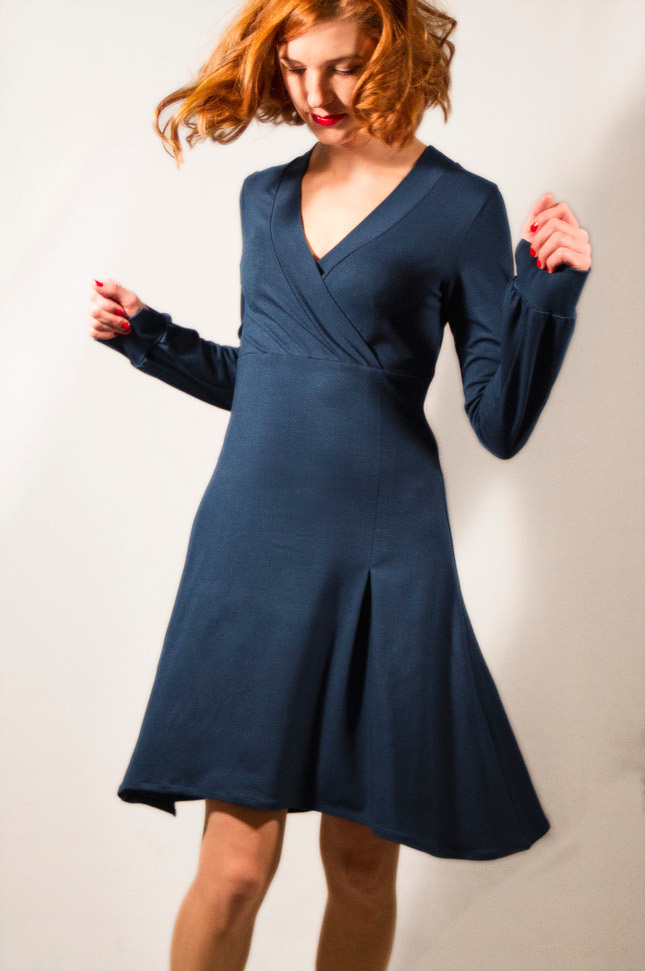 Dress perla limited navy blue fashion